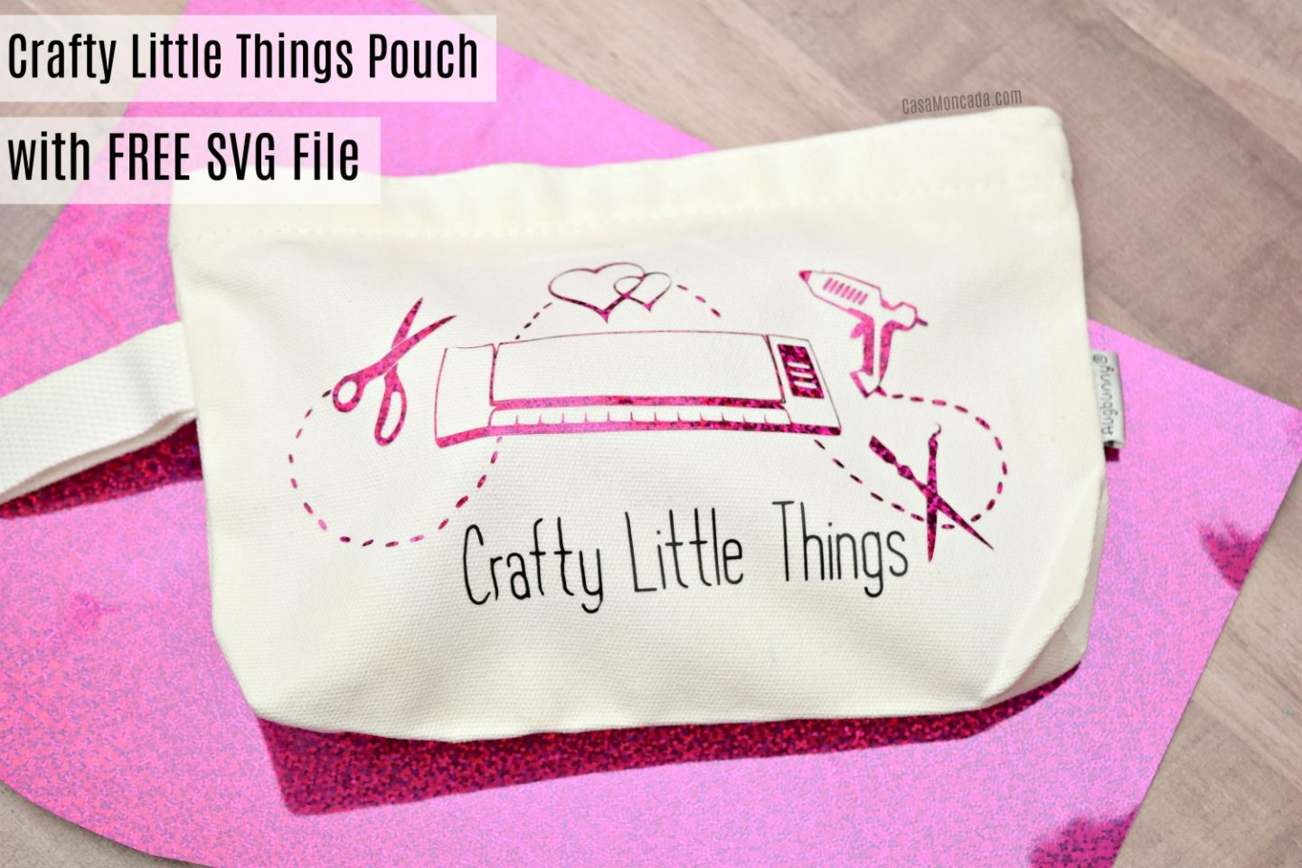 DIY crafty little things bag with free cut file