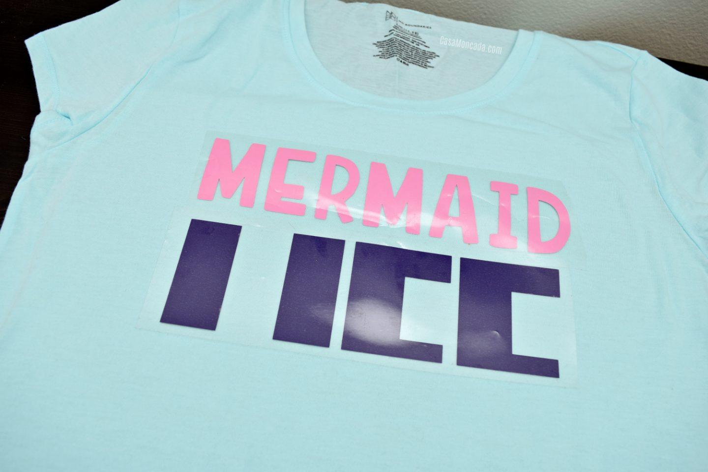 Mermaid Life patterned HTV