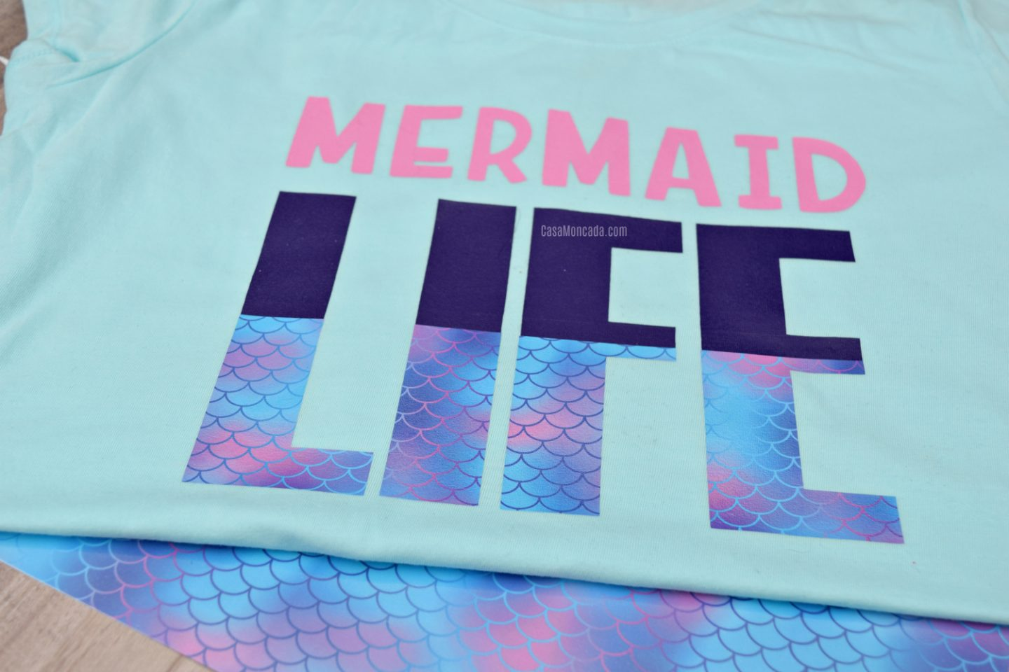 Mermaid Life t-shirt with free SVG file