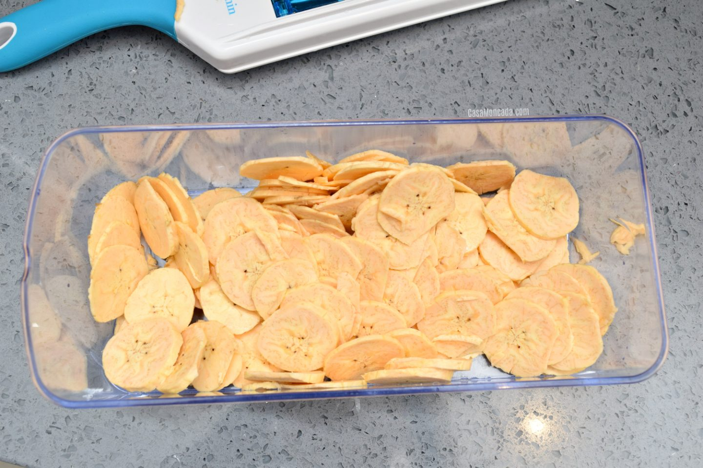 Sliced plantain chips