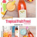 Refreshing tropical fruit frozen rosé