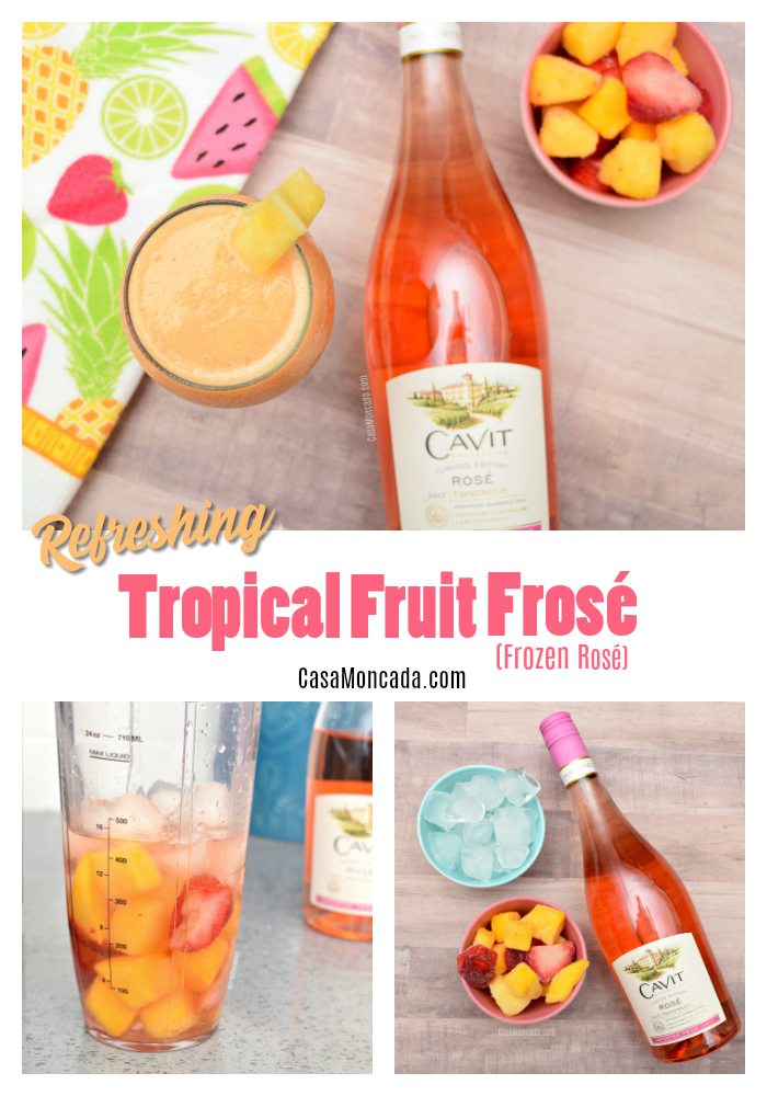 Refreshing tropical fruit frozen rosé