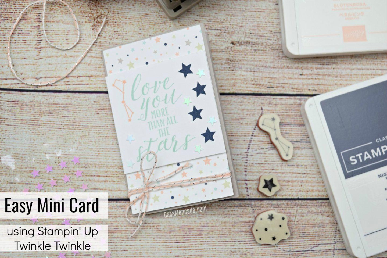 Stampin up Twinkle twinkle mini card