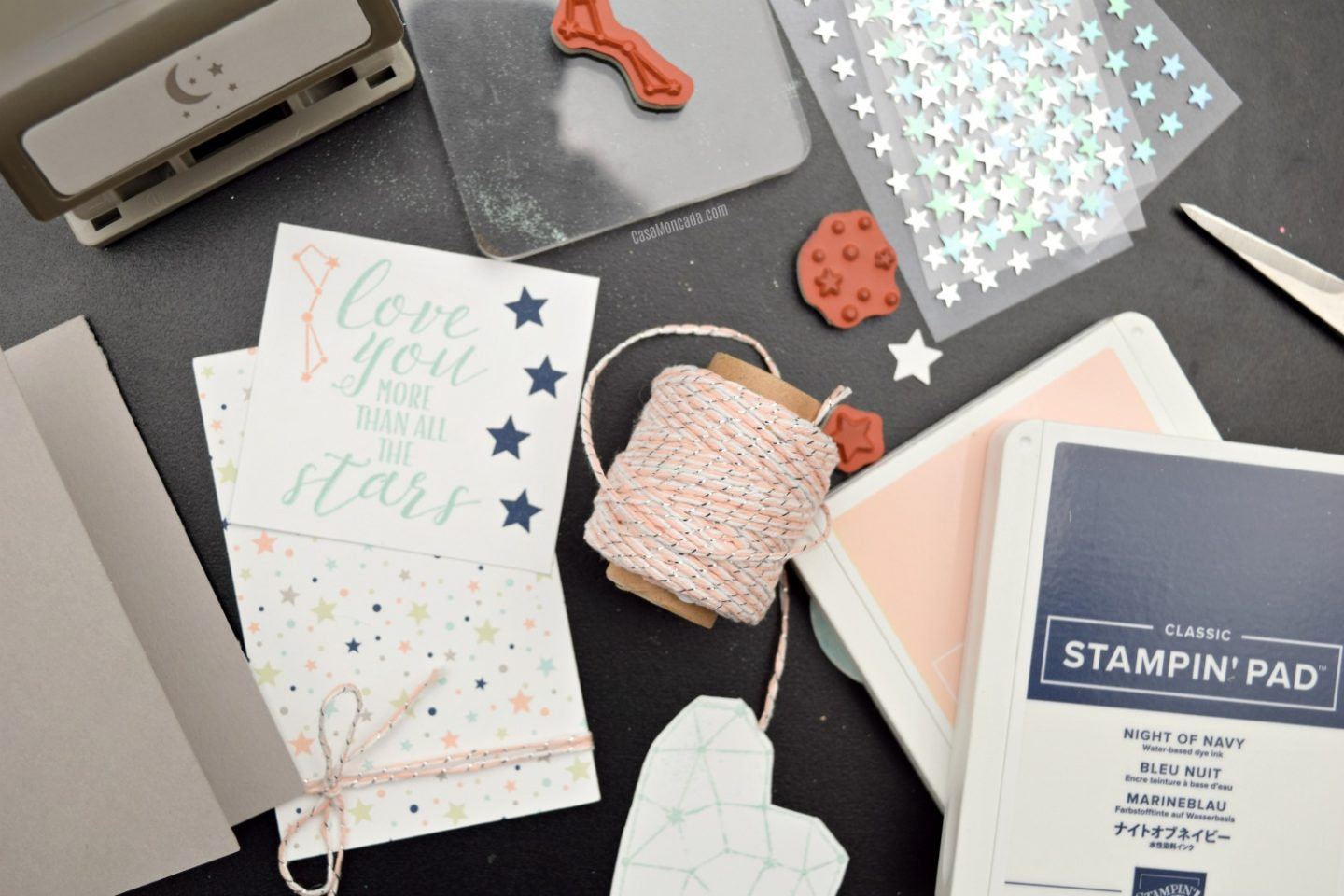 Easy Mini card using stampin up twinkle twinkle