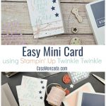 easy mini card using stampin' up! twinkle twinkle