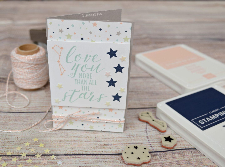 love you more than the stars mini card