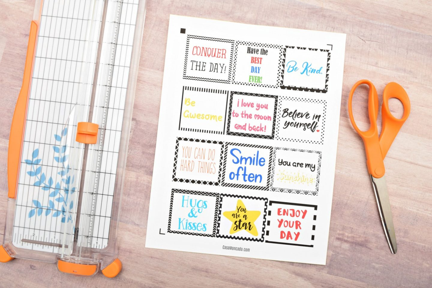 Free printable lunch box sticker notes