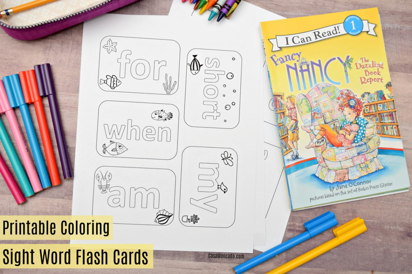 Printable Coloring Flashcards