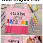 DIY Personalized Kids Crayon Tote