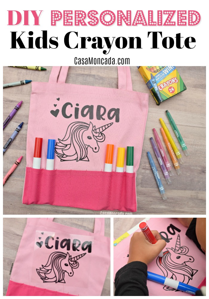 DIY Personalized Kids Crayon Tote