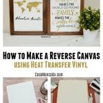 How to make a reverse canvas using HTV