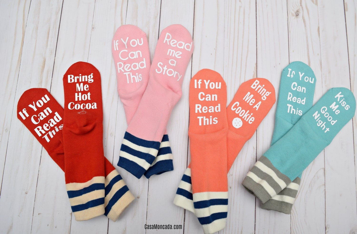 DIY If You Can Read this socks