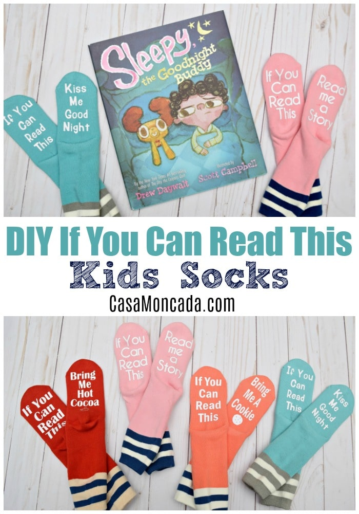 """DIY """"If You Can Read This"""" Socks for kids"""