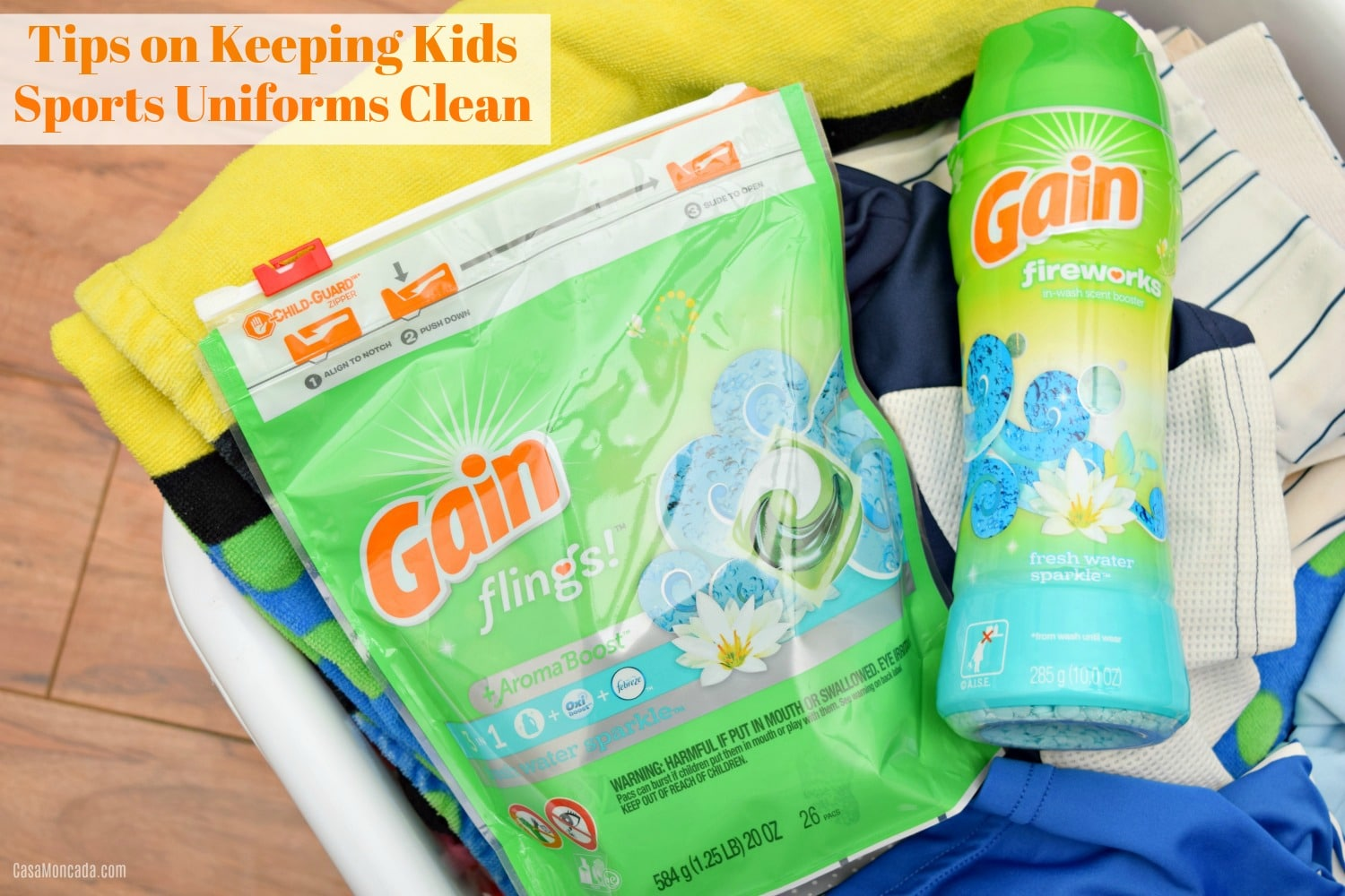 tips on keeping kids sports uniforms clean