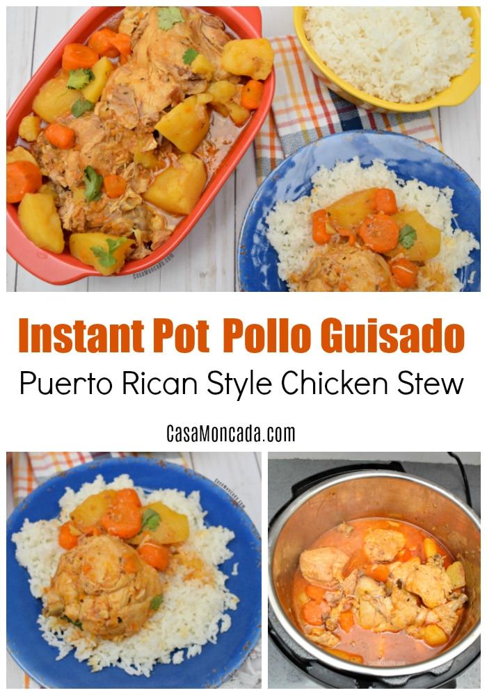 Instant pot pollo guisado recipe