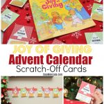 Joy of Giving Advent Calendar Scratch Off Cards