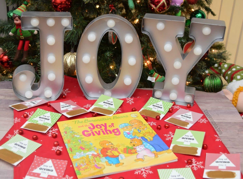 Joy of Giving Advent Calendar scratch-off cards