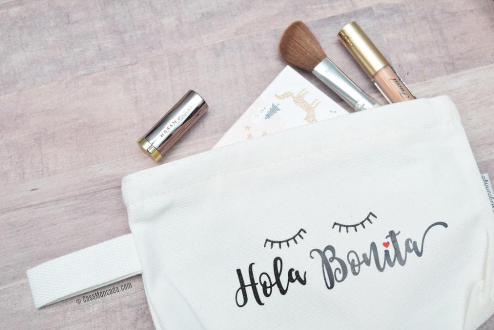 DIY Hola Bonita Makeup Bag using Silhouette Cameo