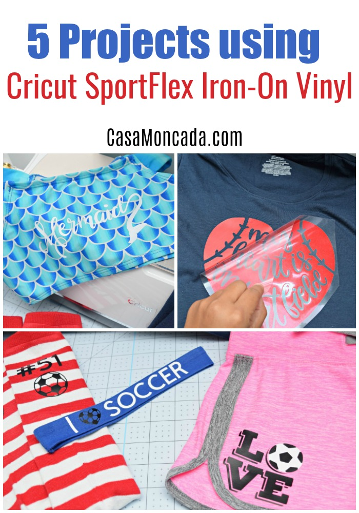 5 Projects using Cricut SportFlex Iron-on Vinyl
