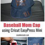 aseball Mama Cap using Cricut EasyPress Mini