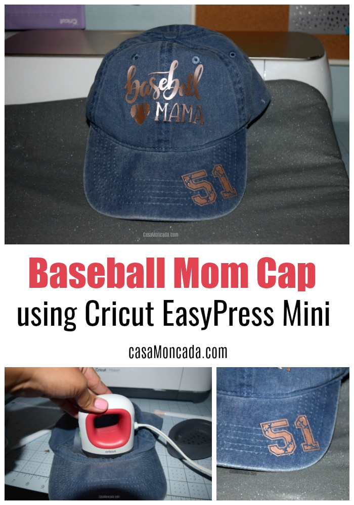 aseball Mama Cap using Cricut EasyPress Mini