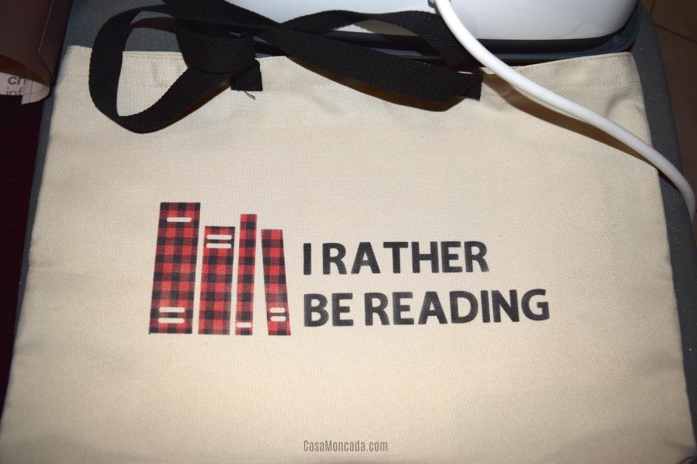 Book lover tote using cricut