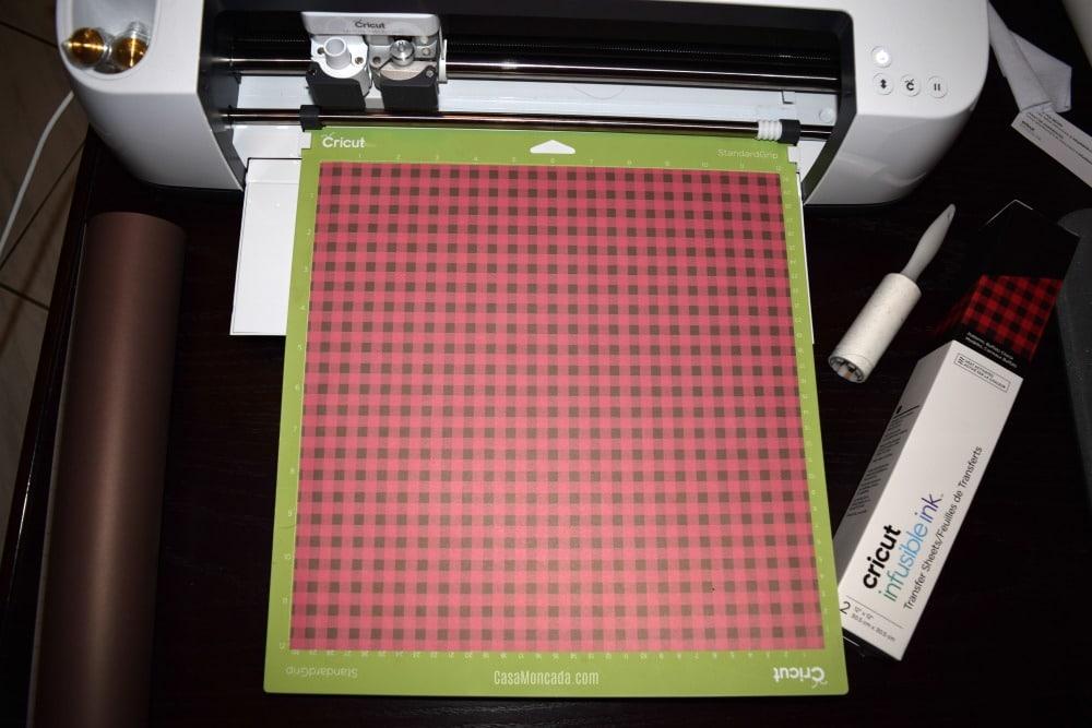 Buffalo plaid Infusible ink sheet