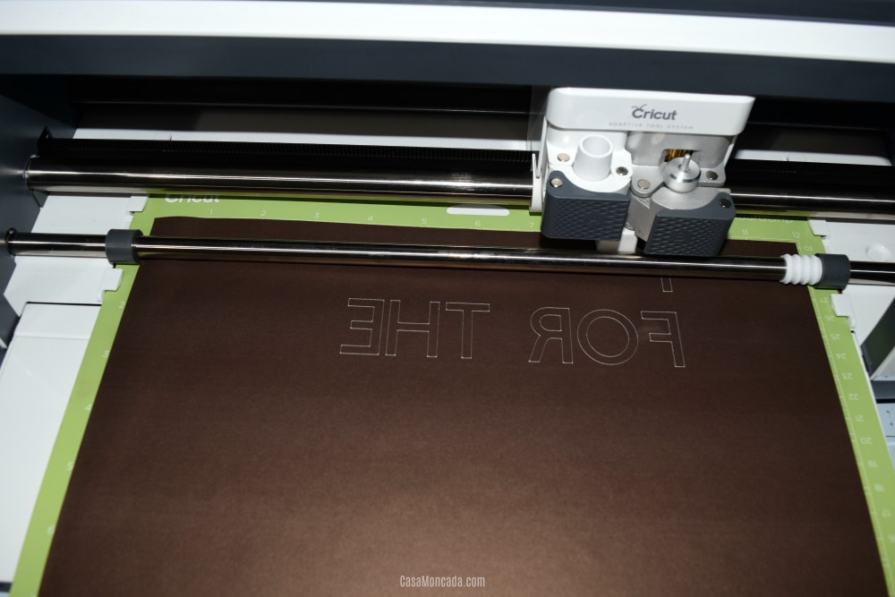 Cutting Cricut Infusible Ink