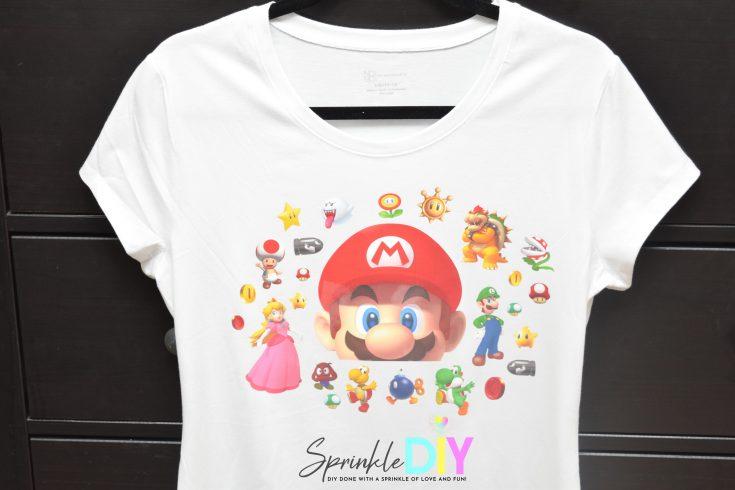 DIY Super Mario 35th Anniversary Shirt