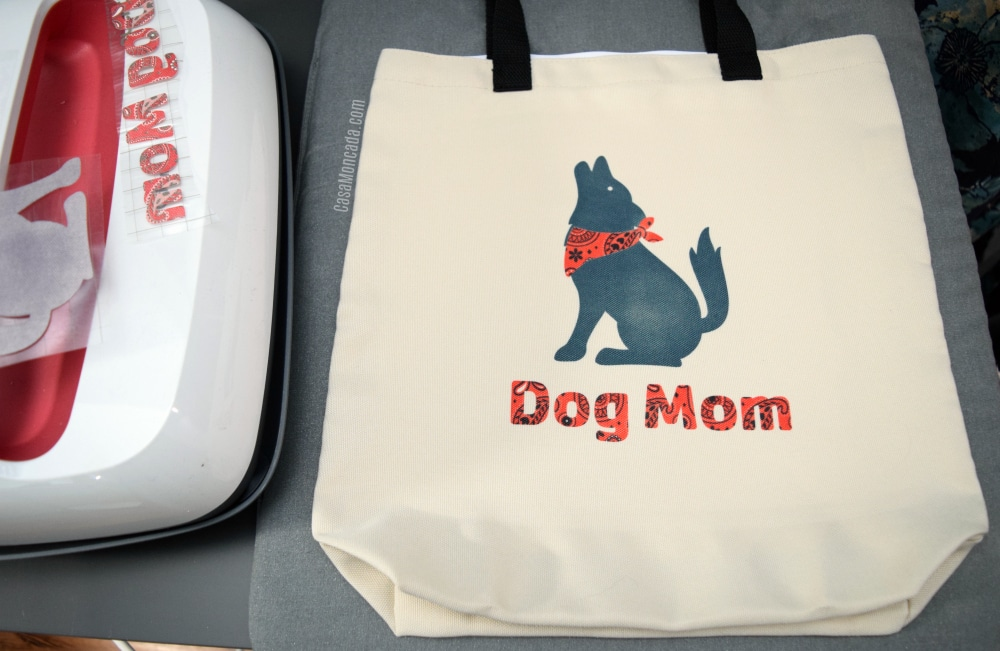 Dog Mom Tote using Cricut Infusible Ink