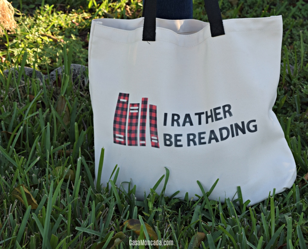 I Rather Be Reading book tote