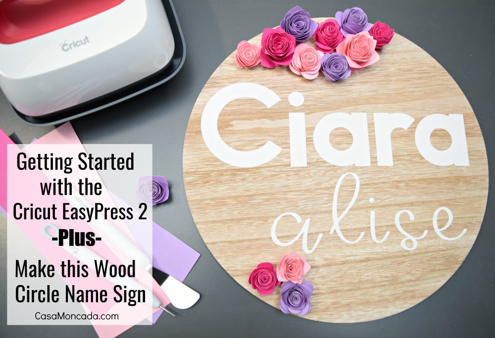 Make this Wood Circle Name Sign