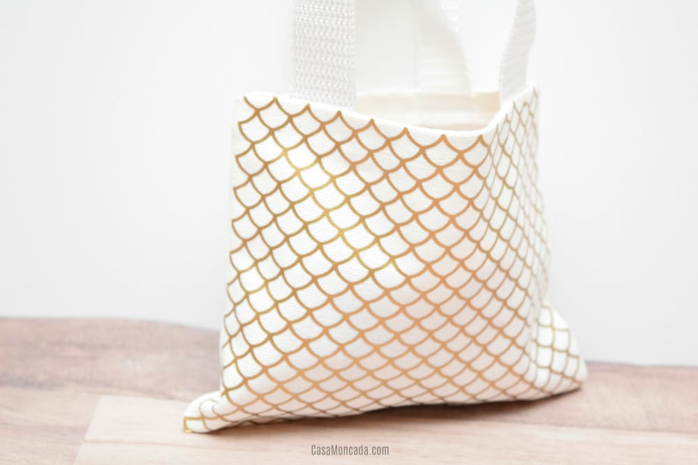Mermaid scales mini tote bag