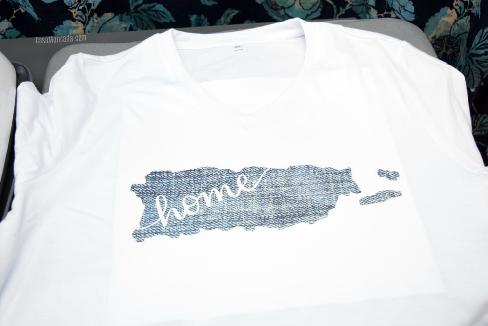 Puerto rico map tshirt using Cricut Infusible Ink