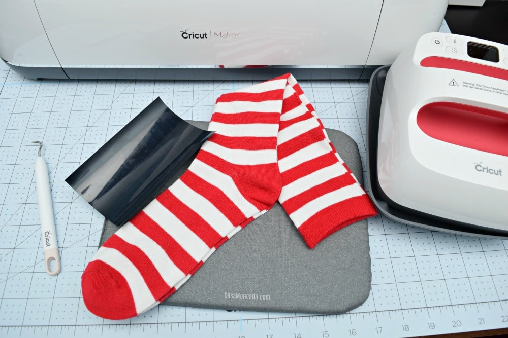 Soccer Sport socks using Cricut SportFlex