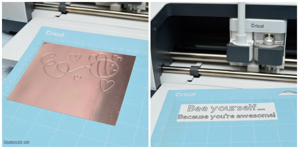 Using Cricut Fine Debossing Tip