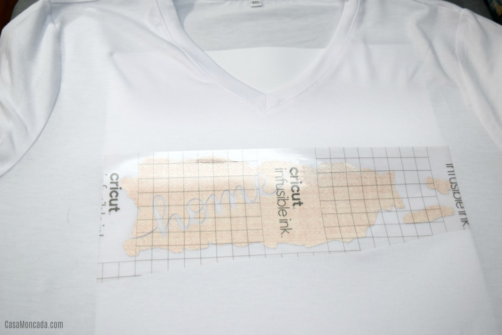 Using Infusible Ink sheets on t-shirt
