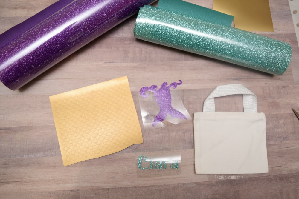 supplies to make mini tote bag with cricut